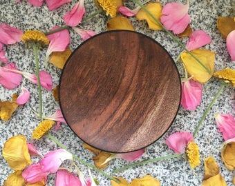 Handmade Decorative Wood Peruvian Walnut Plate