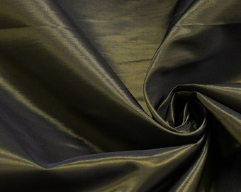 Black Gold 60'' Iridescent Two Tone Taffeta Acetate Taffeta Fabric by the Yard - Style 3051
