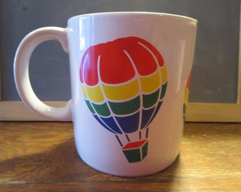 Rainbow Hot Air Balloon Mug