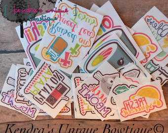10 Iron on transfers, bow tail transfers, iron ons, cheer bow iron on transfers, colorful transfers, bow supplies, bow tail transfers suppli