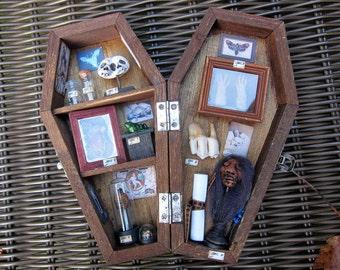 The Odditorium Miniature Coffin Shadow Box