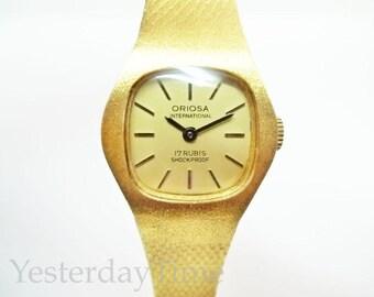 Oriosa International Ladies Watch 1970's Swiss 17 Jewel Manual Movement