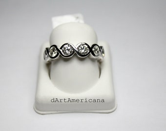 14K White Gold 3.0Ct Eternity Band
