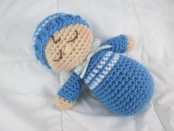 Crochet Sleepy Head Doll Crochet Baby Doll Amigurumi Doll