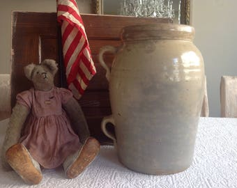 Antique farmhouse early 1900's  butter churn crock