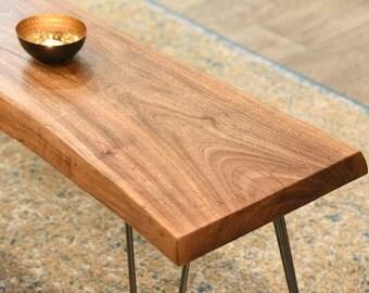 Slab Coffee Table Bench