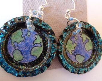 Earth Day earrings (#E172)