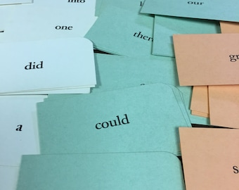 100 Vintage Dolch word cards