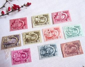 Vintage  Stamps , Hungary  Stamp ,   Old Stamps  ,  Postage Stamps  - set of 10.