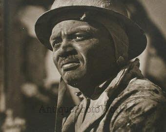 Tired miner vintage art photo by S. Levinsohn