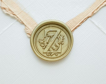 Z wax seal initial for wedding or birthday invitations