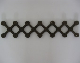 Ornamental Iron Cut - Criss Cross Design - From Victorian Era Home
