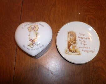 Holly Hobby Small Plate and Heart Box