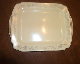 Vintage Yellow Tray