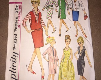 Vintage Simplicity 5673 Barbie Doll Pattern