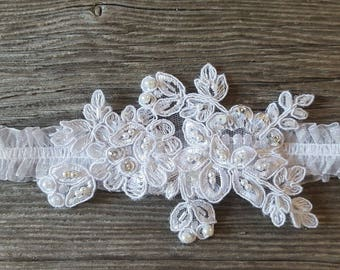 White Romantic Garter