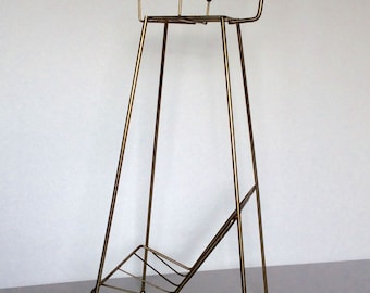 Vintage Magazine Stand with Ashtray Caddy