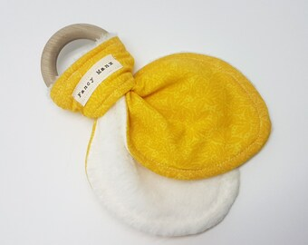 Teething Ring - Yellow Floral