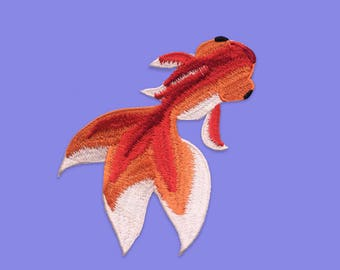 Iron fix patch japanese fish / DIY accessories embroidery / malicieuse shop