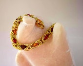 Fall colored byzantine chainmail bracelet, chain mail bracelets, bright anodized aluminum chain mail bracelet