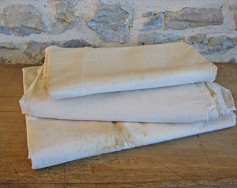 French metis fabric unused unfinished linen cotton sheet fabric
