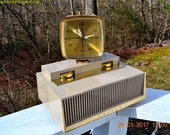 PLAN 9 From Outer Space 1960 Philco Predicta Model J775-124 Tube AM Clock Radio Work