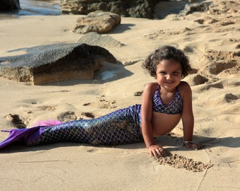Swimmable Mermaid Tail with Halter Top (without a Mono Fin)