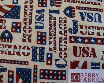 American Honor by Western Denim and Dirt for Blank Quilting.  Quilt or Craft Fabric, Fabric by the Yard.