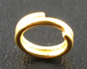 Golden key rings, double / tie rings 5 mm, multiple sets can be selected