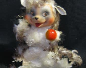 Vintage Rushton Star Creation Music Box Moving Plush Animal Woodchuck, Plays Rockabye Baby