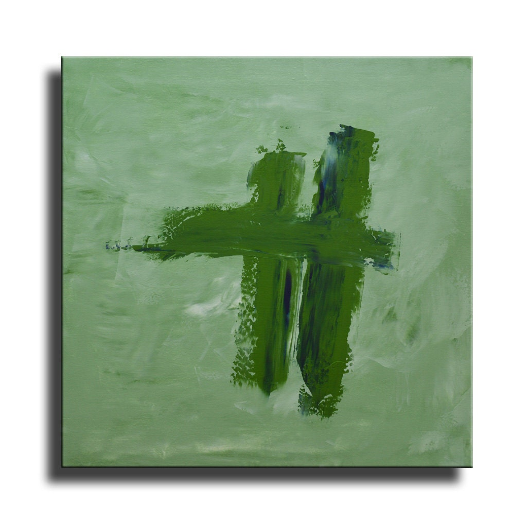 The 25 Best Olive Green Paints Ideas On Pinterest: ABSTRACT PAINTING Olive Green Painting Original Painting