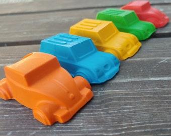 Car Crayons set of 10 - Car Party Favors - Shaped Crayons