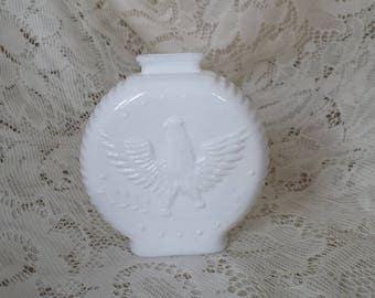 Milk Glass Eagle Coin Bank