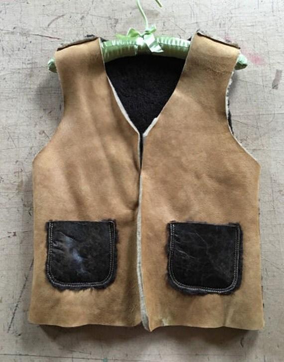 Happy Hour 290 instead of 500 Natural Fur Waistcoat, Sheep Fur Vest Coat, Fur Coat, Luxury Handmade fur coat, Genuine Fur Coat, Transilvani