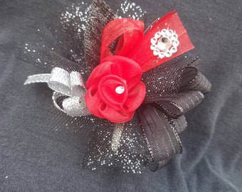 Romantic Red Boutonniere