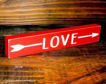LOVE Shelf Sitter Sign - Valentine's Day - 12 Different Color Combinations!