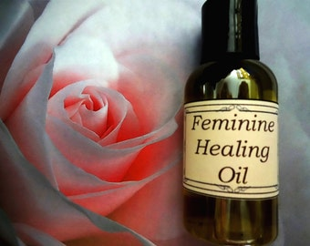 Feminine Healing Oil 4 oz.  Yoni Oil, Postpartum Healing, Vaginitis Prevention, Personal Care, Menopause Relief, Feminine Itching, Yoni Care