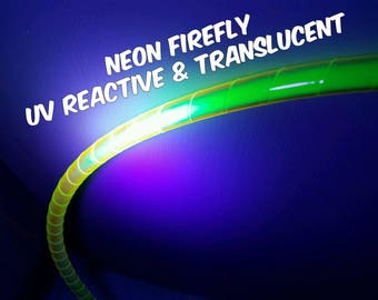 """3/4""""  UV Neon Firefly Color Shifting and Translucent Hula Hoop Tape"""