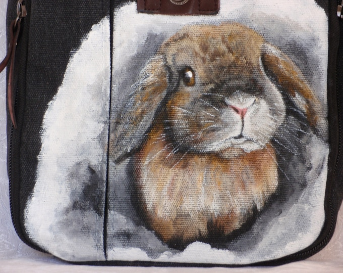 Featured listing image: Canvas Messenger Travel Bag 'Claire' the Bunny