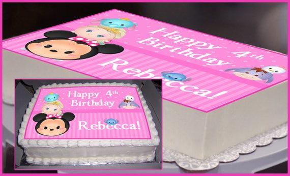 Edible Cake Topper Tsum Tsum Party Tsum Tsum Birthday Tsum