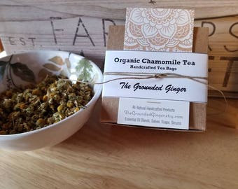 Organic Chamomile Tea ~Individual Tea Bags~Boxed~Gift Ready~Wedding Favor~Shower Favor