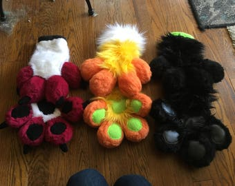 Padded puff paws- fursuit costume