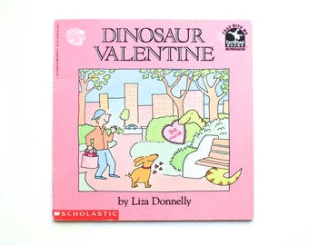 Dinosaur Valentine, Liza Donnelly, 1994, vintage book, Valentine book, Sweetheart, Vintage Children's Book, Vintage Dinosaur Book