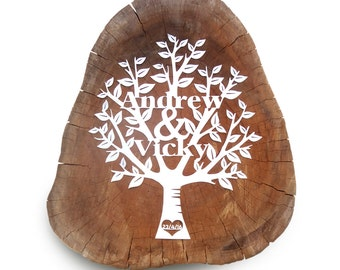 Wedding Tree Fully Customised Papercut Artwork