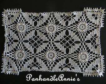 Delicate Handmade Rectangular Doily