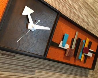 Mid Century Modern Art Modernist Clock 2 foot version Eames Era Tiki Retro Danish Modern Nelson