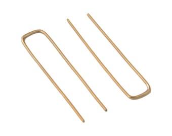 Rectangle Threader Earrings in Gold Fill // Open Hoop Earrings // Gift for Her // Stocking Stuffer Gold Earrings