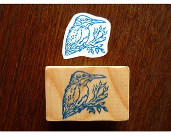 Rubber stamp kingfisher