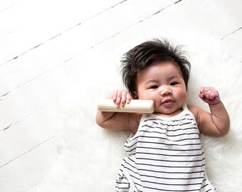 Wood Baby Rattle - Wood Rattle  - Wood Teether Toy - Modern Baby Rattle - Rattle - Baby Toy - Wood Toy - Baby Shower Gift