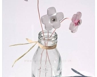 Glass fused flowers E